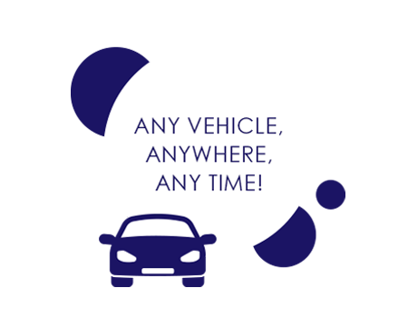 ANY VEHICLE, ANYWHERE, ANY TIME!
