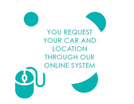 OU REQUEST YOUR CAR AND LOCATION THROUGH OUR ONLINE SYSTEM